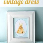 Vintage Dress Watercolor Printable
