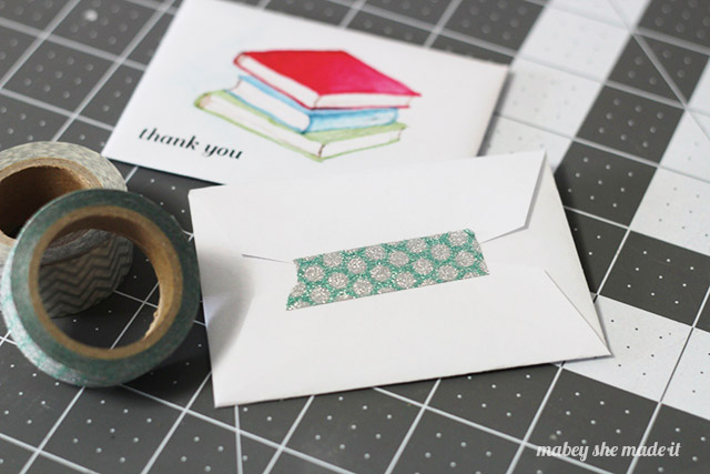 seal with washi tape