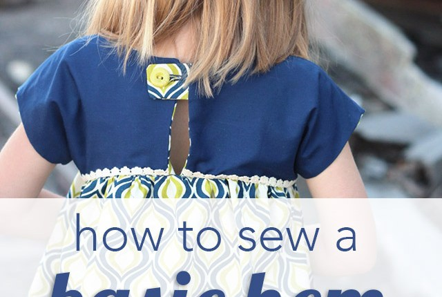 Learn how to sew a hem using either a sewing machine or a serger with this basic sewing tutorial.