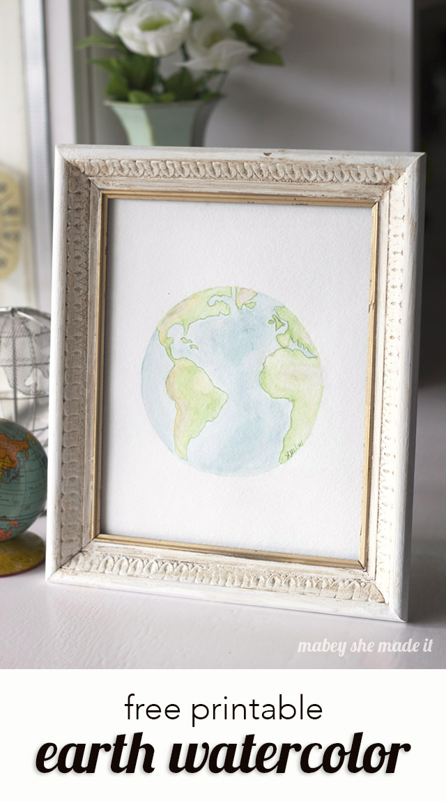 picture relating to Printable Versions named Watercolor Entire world Printables Mabey She Generated It