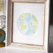 Watercolor Earth Printables
