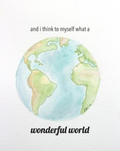 Download and print this beautiful earth watercolor with various sayings (or plain)