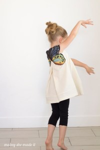 Add a beautiful woven butterfly to any shirt or tunic with this tutorial. Perfect for a costume or for every day.