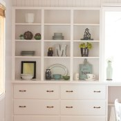 Mabey Manor: Refinished Built-ins