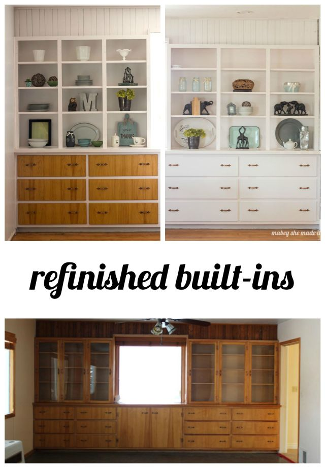 Refinished Built-ins in Mabey Manor