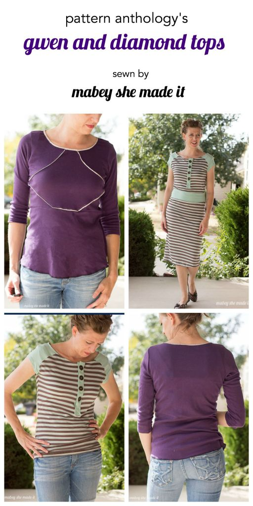 Gwen Top from the Unbiased collection by Pattern Anthology sewn by Mabey She Made It