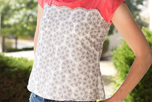 Anna Top Hack--Add a fun detail to the Anna Top using this tutorial.