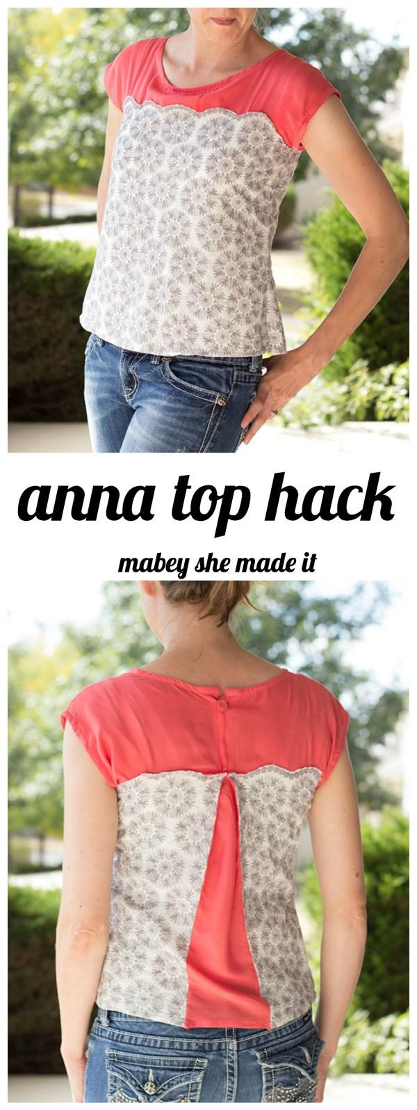 Anna Top Hack--Add a fun detail to the Anna Top using this tutorial.