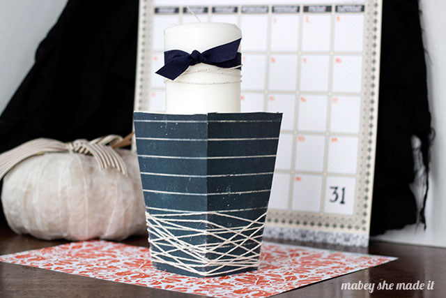 Try this chic and sophisticated Halloween Candle Holder--Halloween doesn't have to be cutesy or scary!