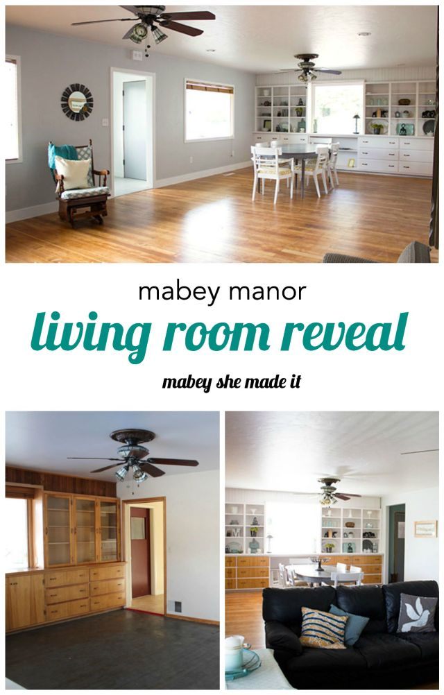 Living Room reveal for Mabey Manor by Mabey She Made It