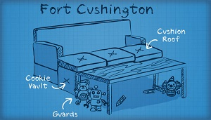 sofa fort ideas!