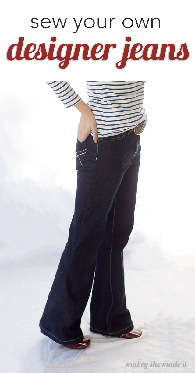 Sewing jeans is pretty easy with the Birkin Flares pattern.