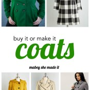 Buy It or Make It: Coats