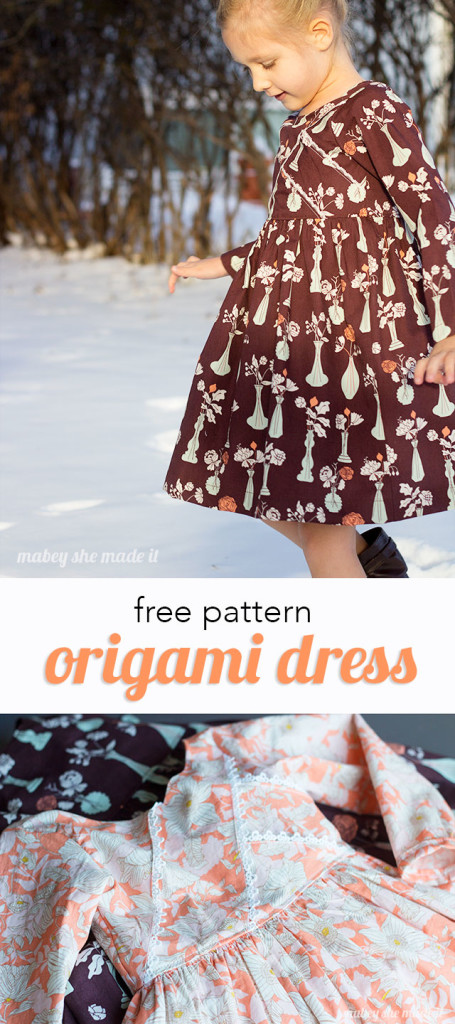 Free pattern for this adorable Origami Dress from Mabey She Made It
