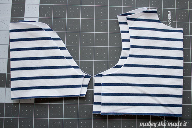 How to match stripes when sewing. Matching stripes is easy and effective.