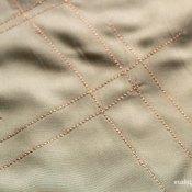 Metallic Faux Embroidery Blouse Tutorial