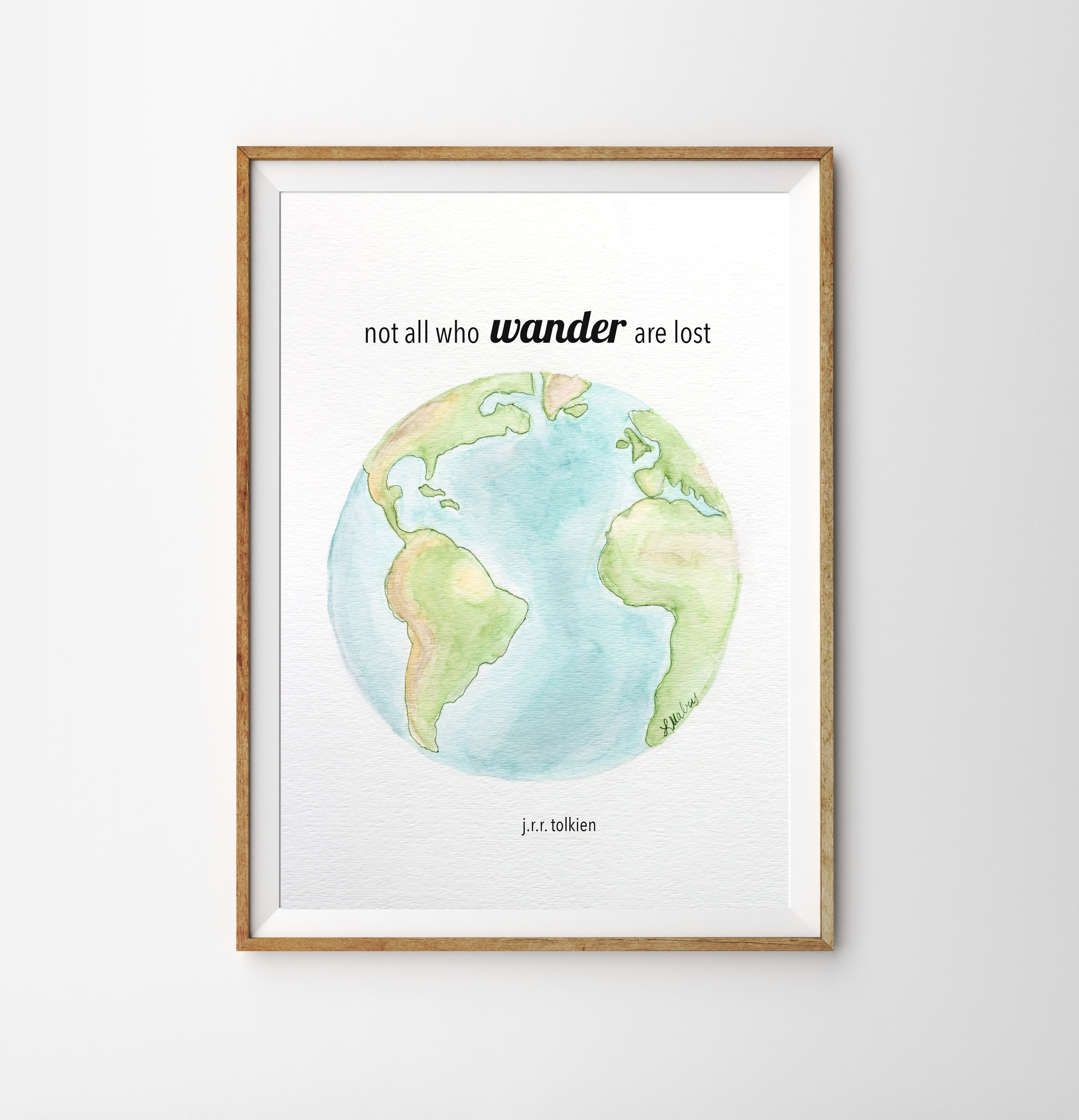 image relating to Watercolor Printable called Not All Who Stroll Watercolor Printable