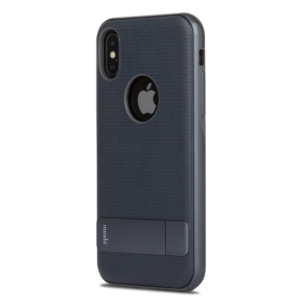 the latest c6715 04ba7 Moshi Kameleon Kickstand Case for iPhone X -Midnight Blue | Mac-Ave