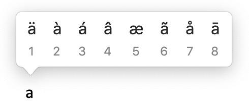 Akzente und alternative Buchstaben als Mac Sonderzeichen
