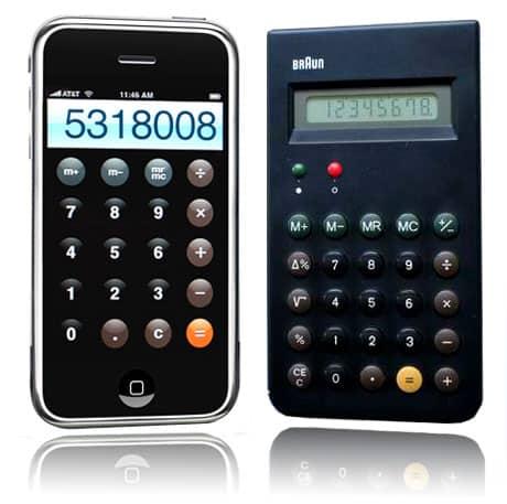 Apple borrowed from the Braun design