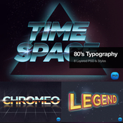 Creativemarket 80s Typography Text Effects 79756 icon