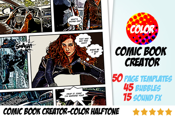 Creativemarket Comic Book Creator – Color Halftone 17764 | Mac ...