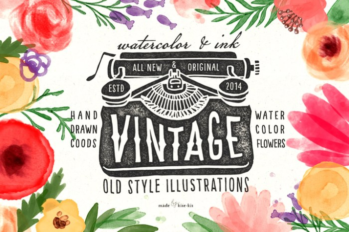 Creativemarket_Vintage_objects_and_watercolor_86354_cap01