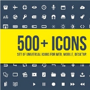 Set of 500 Universal vector icons 85304 icon