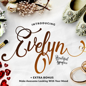 Creativemarket Dirtyline Studio Evelyn script font icon