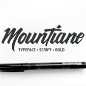 Creativemarket MounTiane Typeface 30percent off 247335 icon