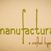 Manufactura a crafted typeface 381344 icon
