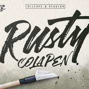 Rusty cola pen display fonts 430139 icon