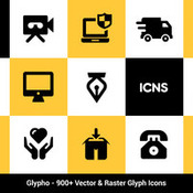 Bogdan rosu glypho icon pack 900plus vector and raster icons icon