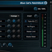 Blue cat audio blue cats patchwork icon