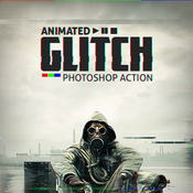 Animated glitch photoshop action 12119186 icon