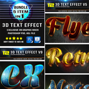 Graphicriver 3d text effect super bundle 11627661 icon
