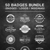 Graphicriver 50 vintage style badges bundle 7783533 icon
