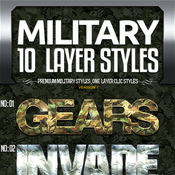 Military text effects bundle 11567523 icon