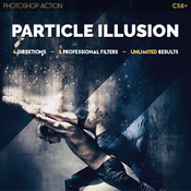 Particle illusion photoshop action 13375406 icon