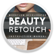 Beauty retouch panel 3 rounded icon