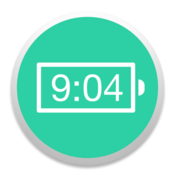 Battery time indicator icon