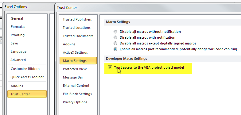 Programmatic Execution of an Excel Macro on Remote Machine