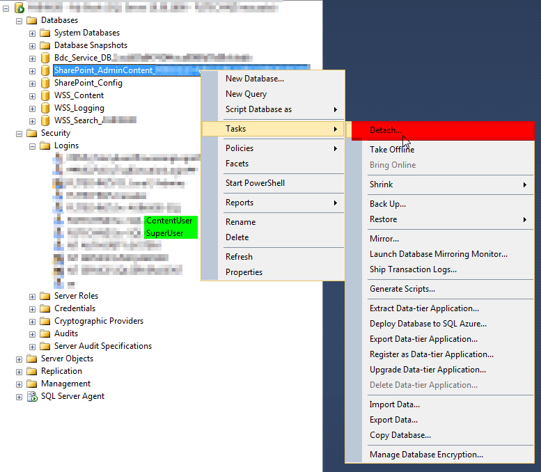 Migrate SharePoint's SQL Server to another SQL Server (same