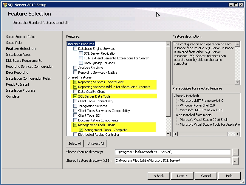 install sql server reporting services visual studio 2013