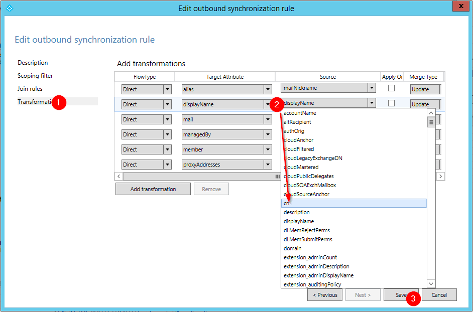 Searching Azure Active Directory by CN from On-Premise AD