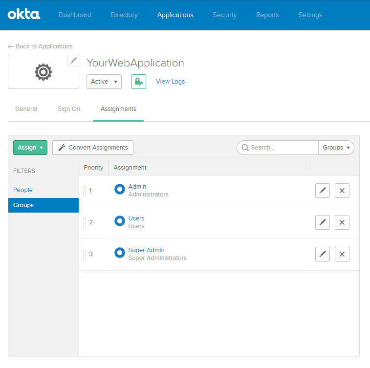 Using Role Authentication in your OKTA Authentication