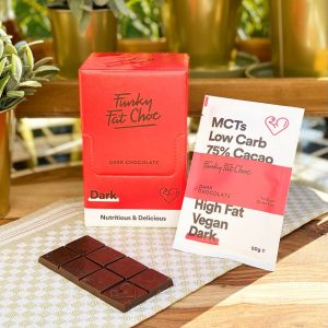 KETO-chocolade Funky Fat Foods - DARK (10 + 1 gratis)