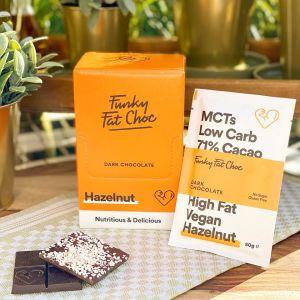 KETO-chocolade Funky Fat Foods - HAZELNUT (10 + 1 gratis)