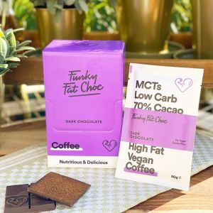 KETO-chocolade Funky Fat Foods - COFFEE (10 + 1 gratis)