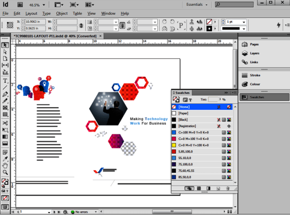Adobe InDesign CS6 windows